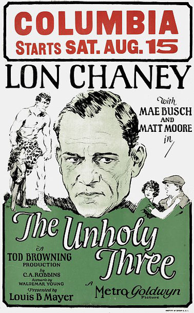 The Unholy Three poster